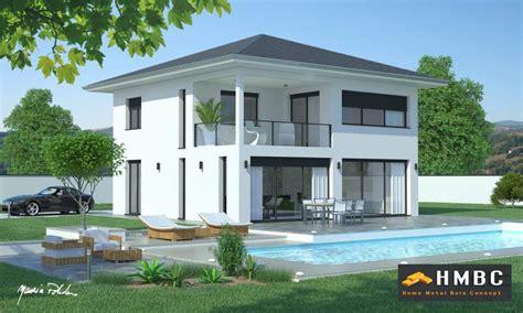 plan maison 5 chambres plain pied maison contemporaine avec toit