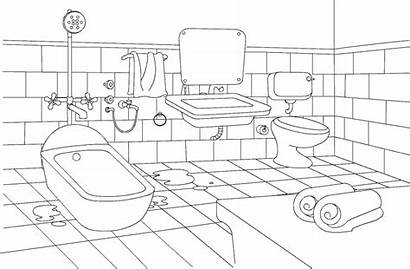 Bathroom Coloring Pages Toilet Sheet Colouring Bedroom