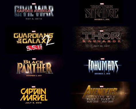 Marvel Has Announced Their New Movies Till 2019