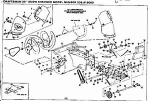 Craftsman 536918000 Snowblower Parts