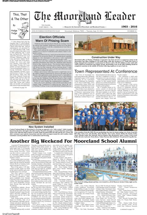 mooreland leader september   page