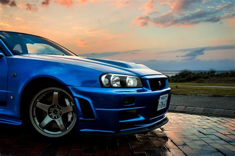 Nissan, Nissan Skyline Gt R R34, Car, Blue, Jdm Wallpapers