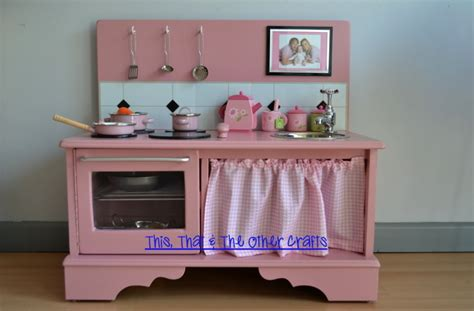 convert tv cabinet to play kitchen this that and the other crafts handmade wooden play 9457