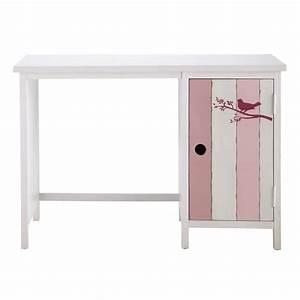 Bureau Enfant Blanc : bureau enfant rose et blanc violette maisons du monde ~ Teatrodelosmanantiales.com Idées de Décoration