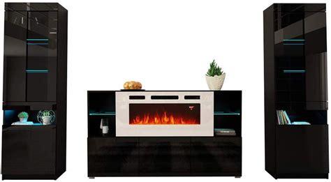 komi wh electric fireplace modern wall unit