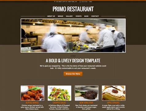 cuisine site restaurant website design templates