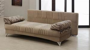 Daisy sofa bed convertible in light brown microfiber by empire for Light brown microfiber sectional sofa