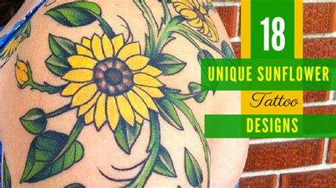 unique sunflower tattoo designs  girls amazing