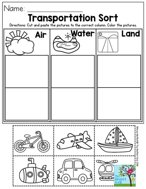 Transportation Sort Air, Water Or Land? Perfect For Preschool!  Best Of Preschool Pinterest