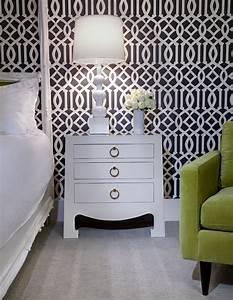 Imperial Trellis Wallpaper Contemporary Bedroom NB
