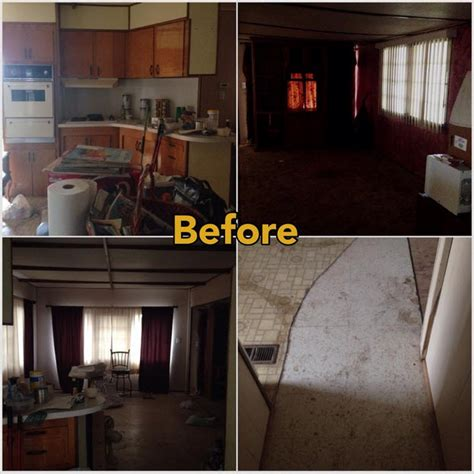 mobile home makeover    rehab pictures