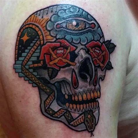sugar skull tattoo designs  men cool calavera ink ideas