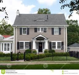 two story house stately two story house royalty free stock image image 32998246