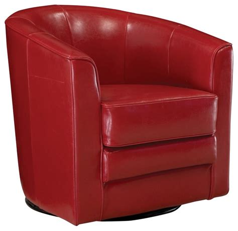 conrad leather swivel accent chair contemporary