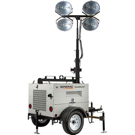 magnum light tower parts generac magnum mlt4060k mobile light tower 6000 watts