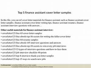 sample cover letter for finance assistant position - top 5 finance assistant cover letter samples