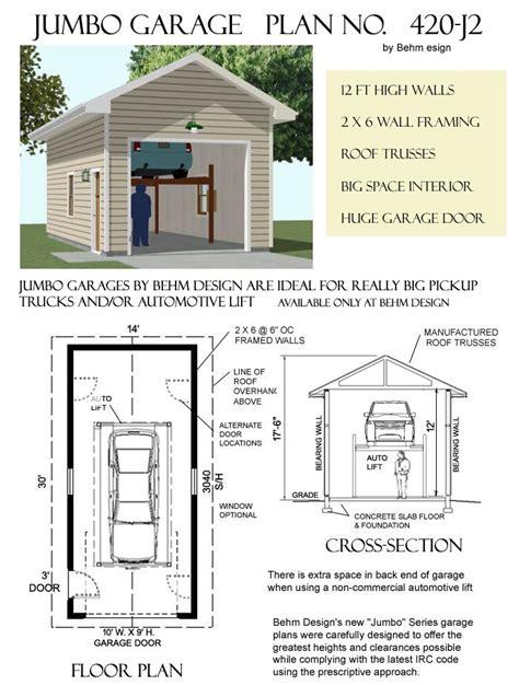 jumbo  car garage plan behm garage plans   garage plans car garage