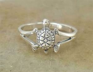 Cute  925 Sterling Silver Turtle Tortoise Ring Size 9 Style  R1690