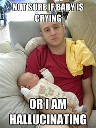 Baby Crying Dad Meme