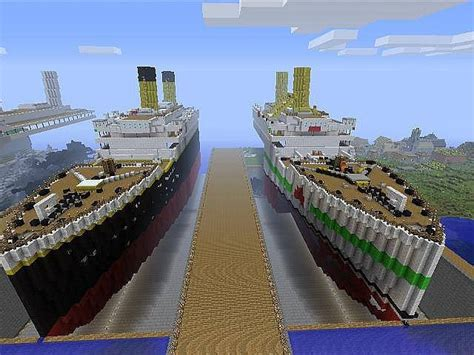 The Sinking Of The Britannic Minecraft by Xbox 360 Edition Detailed 1 1 Scale Hmt Olympic Rms