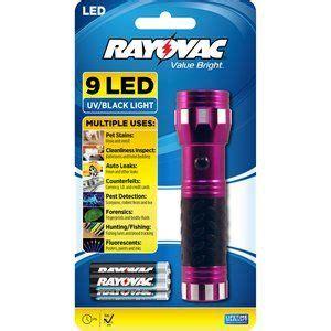 rayovac value bright 9 led uv flashlight light the night