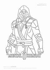 Scorpion Draw Mortal Kombat Coloring Mk11 Step Drawing Zero Sub Characters Tutorial Dessin Fan Drawitcute Famous Coloriage sketch template