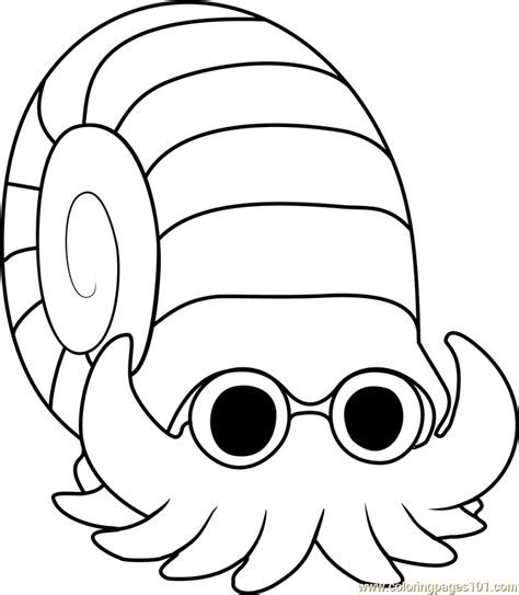 Kleurplaat Avalugg by Omanyte Coloring Page Free Pok 233 Mon Coloring