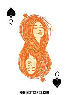 feminist playing cards images playing cards