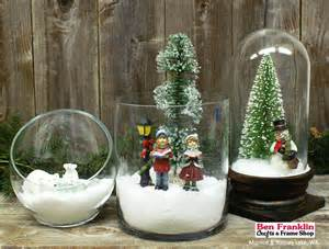 ben franklin crafts and frame shop monroe wa diy miniature winter scenes in glass containers