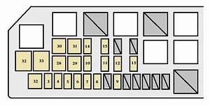 Toyota Tacoma  2003 - 2004  - Fuse Box Diagram
