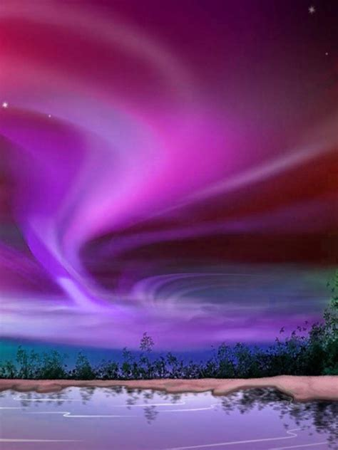 fondo escritorio paisaje aurora boreal