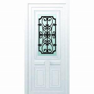 porte d39entree pvc gonia blanc castorama With porte d entrée aluminium castorama