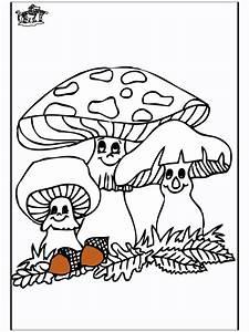 Pilze 1 Ausmalbilder Herbst