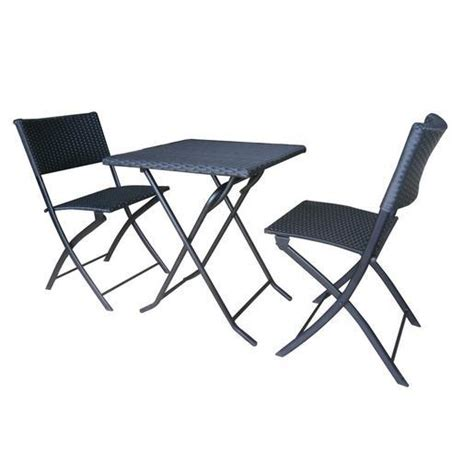 table et chaise balcon pas cher ensemble table et chaise balcon métal résine noir