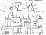 Factory Doodle Smoking Pipes Pollution Air Vector Illustration Abstract Backgrounds Architecture sketch template