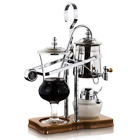 Its luxurious black and gold egyptian style will surely look great on any countertop or tabletop. Belgian Belgium Royal Family Balance Siphon Syphon Coffee Maker with Tee handle Silver Color,1 ...