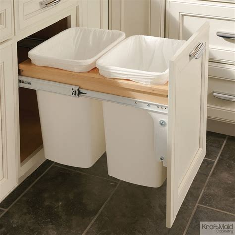 double garbage can cabinet wastebasket cabinet insert cabinets matttroy