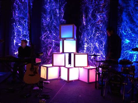 stage lighting design diffuse the light boxes church stage design ideas