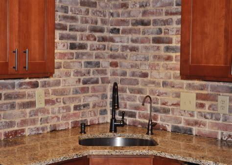 kitchen with brick backsplash photos of vintage brick veneer