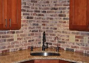 Photos of vintage brick veneer for Kitchen with brick backsplash