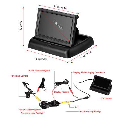 rückfahrkamera mit monitor 4 3 klappbar faltbar monitor einparkhilfe r 252 ckfahrkamera