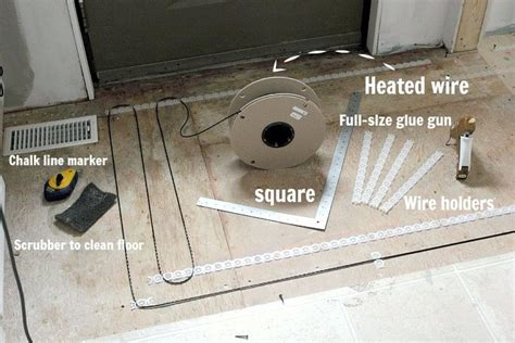 how to install a heated tile floor and also how not to
