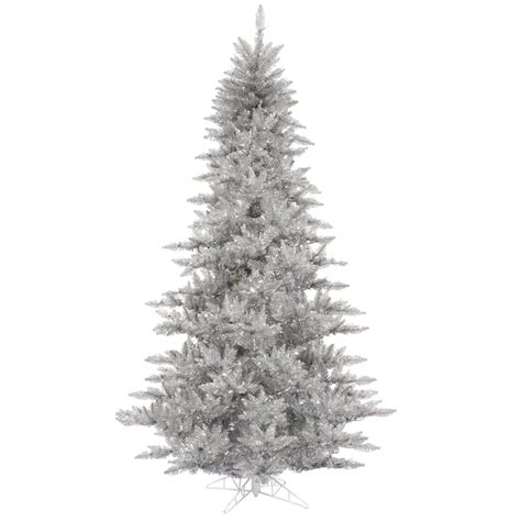 artificial silver christmas trees