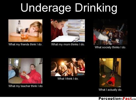 Underage Drinking Meme - underage drinking what people think i do what i really do perception vs fact