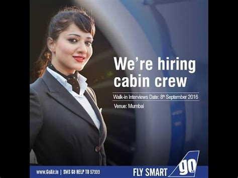 air hostess walk in requirements go air youtube