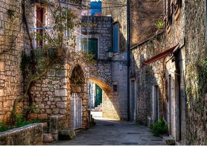 Street Croatia Wallpapers Background Building Town 4k