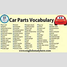 Car Parts Vocabulary  English Study Here