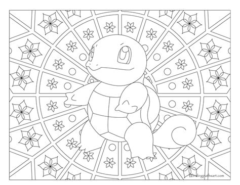 #007 Squirtle Pokemon Coloring Page · Windingpathsart.com