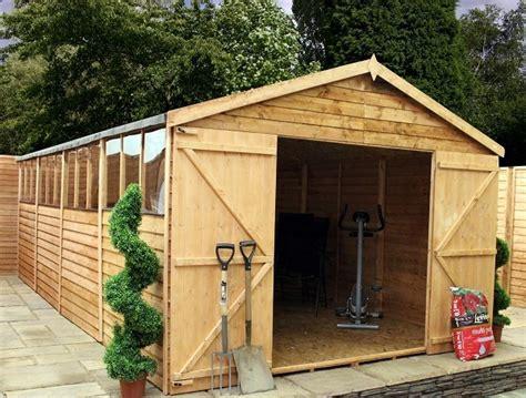 mercia 20x10 overlap apex wooden garden shed workshop