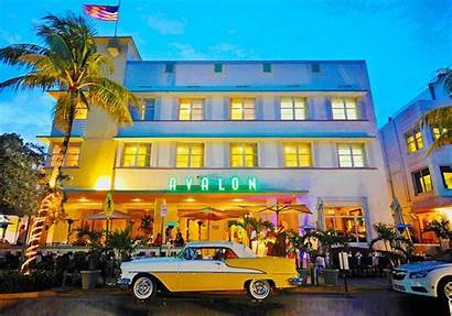 Miami Beach Restaurants Avalon Hotel Open Exterior